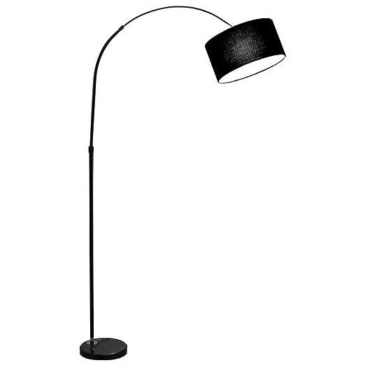 Lámpara de pie Lámpara de Pesca con Pantalla de Tela ...