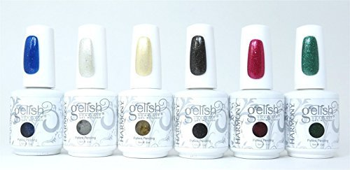 Gelish Soak Off HOLIDAY COLLECTION Set of 6 Colors Nail UV Gel Polish Christmas by Harmony