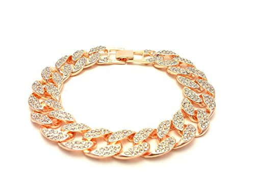 Shiny Jewelers USA Mens Iced Out Hip Hop Rose Gold CZ Miami Cuban Link Chain 8