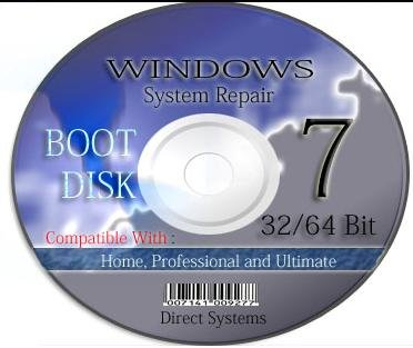 BOOT RESTORE & RECOVERY for WINDOWS SEVEN 32bit / 64 bit