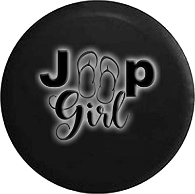 Girl Sandals Flip Glowing Off Road RV Camper Spare Tire Cover Dealer Grade