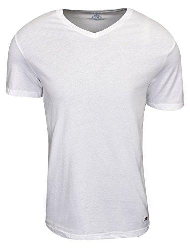 Undershirts 3 Pack Cotton Classics V-Neck T-Shirts, Winter White, Large (Winter Undershirt)