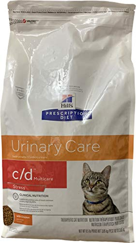 HILL'S PRESCRIPTION DIET c/d Multicare Stress Urinary Care with Chicken Dry cat Food, 8.5 lb Bag
