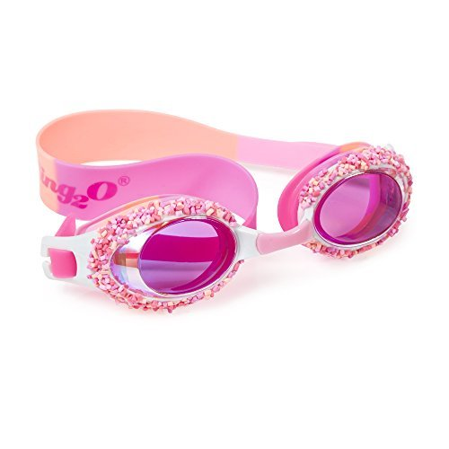 Swimming Goggles For Girls - Cake Pop Kids Swim Goggles By Bling2o (Angel Cake Pink) ()