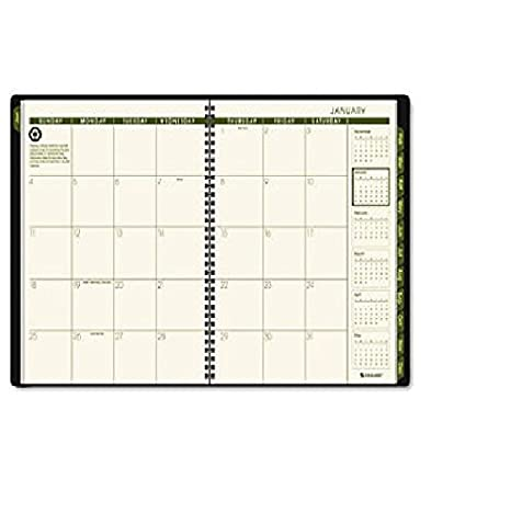 amazon com at a glance recycled monthly planner black 9 x 11