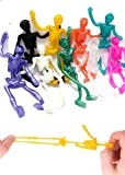 UpBrands Stretchy Skeleton 48 Pack 4 inches Bulk Set 9 Glitter Colors, Kit for Birthday's, Halloween Party Favors for Kids, Goodie Bags, Easter Egg Basket, Pinata Filler, Small Toys Classroom Prizes