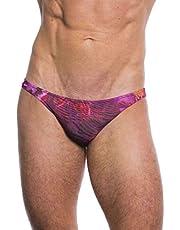 Kiniki Amalfi Purple Tan Through Zondoorlatende Heren Micro Zwembroek