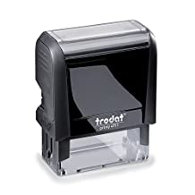 """Trodat Printy 4911 Self-Inking Stock Stamp """"Exhibit"""" Red Pad, Climate Neutral, upto 65-Percent Recycled Plastic Lifetime Warranty on Mechanism"""