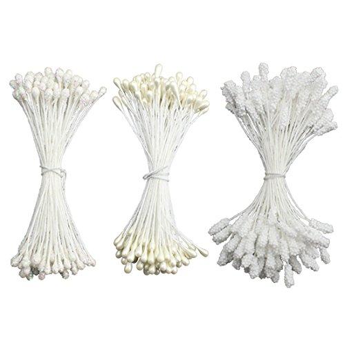 Artificial White Pollen Set Mixed Shape Stamen/Flower Leaves Stamen Make With 5mm Pearl Foam Glass Stamen - Guide Eyewear Face Shape