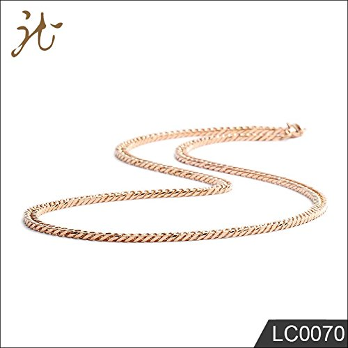 Adecco LLC Chain Mens Necklaces - Titanium Steel Necklace For Women Gold Silver Rose Gold (3mm Rose (Titanium Plated Necklace)