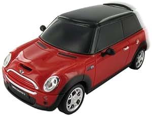 BeeWi BBZ251-B6 - Coche en miniatura Mini Cooper S con Bluetooth para control por iPhone, color rojo