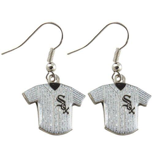 MLB Chicago White Sox Ladies Glitter Jersey Earrings