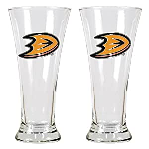 NHL Anaheim Ducks Two Piece 19-Ounce Pilsner Glass Set - Primary Logo