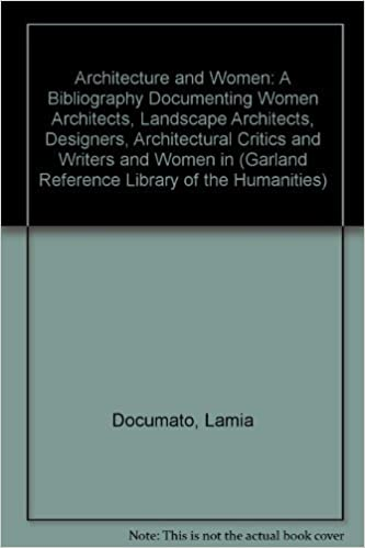 Architecture And Women A Bibliography Documenting Women Architects Landscape Architects Designers Architectural Critics And Writers In The Us Garland Reference Library Of The Humanities 886 Lamia Doumato 9780824041052 Amazon Com Books