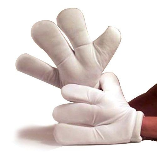 Fun World Unisex-Adult's Cartoon Hands Costume Accessory, White,