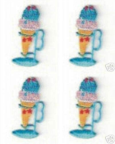 Iron on Ice Cream Sundae Applique Patch