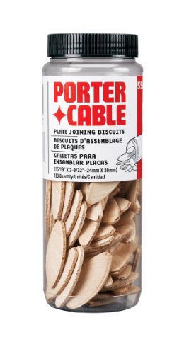 (PORTER-CABLE 5562 No. 20 Plate Joiner Biscuits - 100 Per Tube)