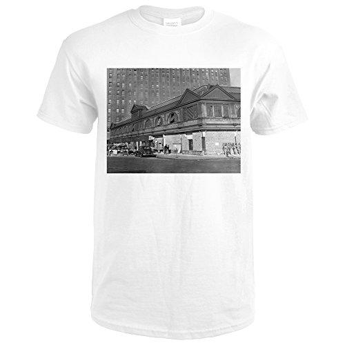 Washington Market During renovations NYC Photo (Premium White T-Shirt XX-Large) - Washington Market