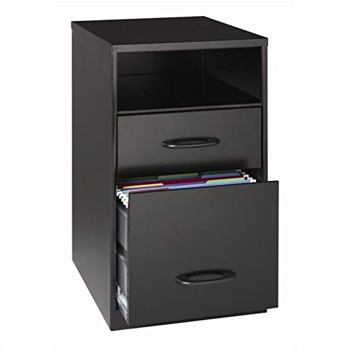 Pemberly Row 2 Drawer File Cabinet in Black by Pemberly Row