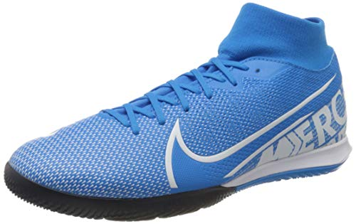 Mercurial Superfly 7 Academy IC Indoor Soccer Shoes- Blue/White (8.5)