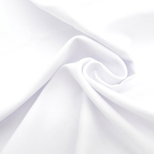 iNee 100% Cotton Fabric for Embroidery, Embroidery Fabric Cotton, 20 by 60-Inch, White