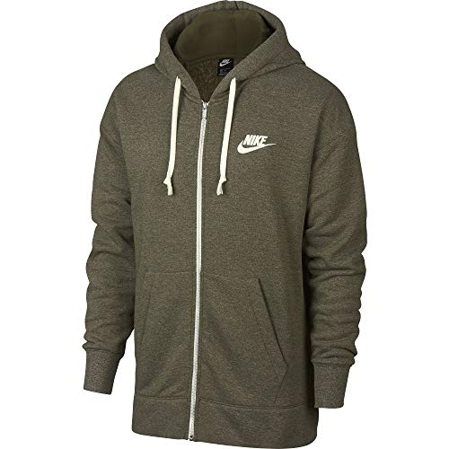 Nike Mens Heritage Full Zip Hoodie Olive Canvas/Sail 928431-395 Size 2X-Large ()