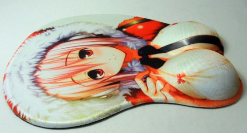 3D mouse pad - Sexy Super Sonico in Fur-lined Coat
