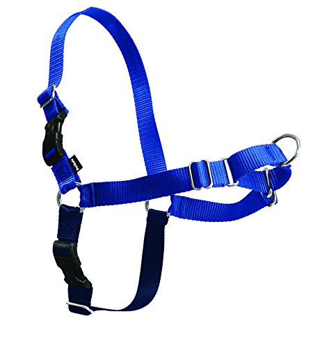 PetSafe Easy Walk Dog Harness, No Pull Dog Harness, Royal Blue/Navy Blue, Small/Medium (Harness Measurements Dog)