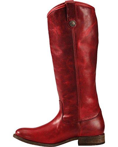 FRYE Damen Melissa Button Boot Burgund