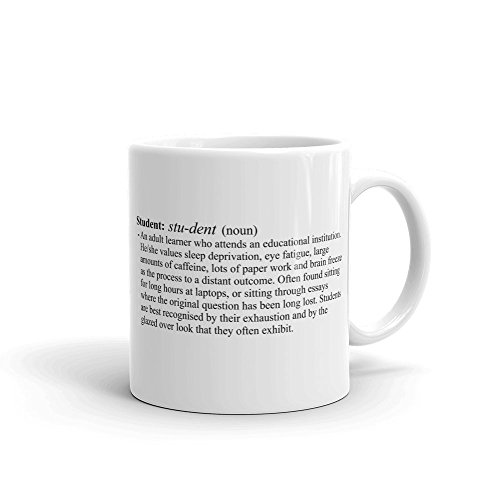 Cannon Collectables Student Definition Ceramic Mug, White, 11 oz
