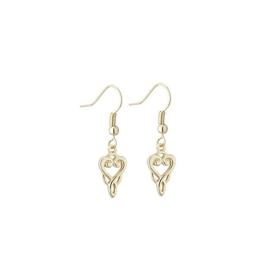 Book of Kells Celtic Trinity Knot Drop Earrings
