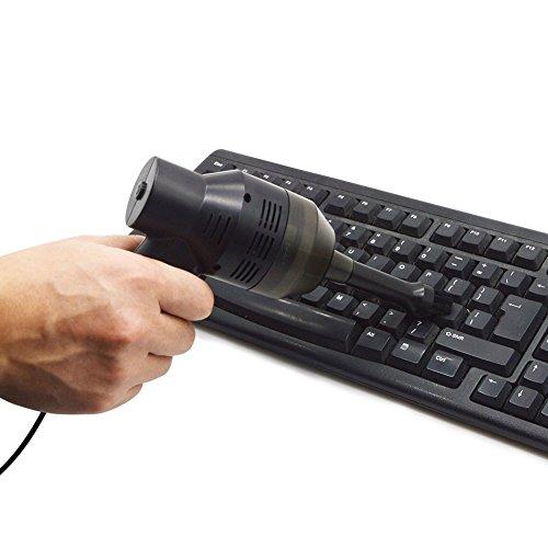Meiyiu USB Rechargeable Laptop Keyboard Cleaner Car Vacuum Cleaner Pet Hair Sweeper by Meiyiu