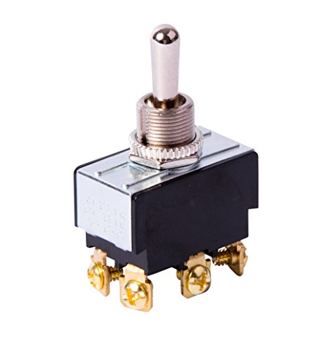 Mom Switch - Gardner Bender GSW-123  Electrical Toggle Switch, DPDT, Mom ON-OFF-Mom-ON,  20 A/125V AC,  Screw Terminal