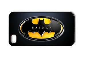 Batman Logo on Black Iphone 5c Black Sides Hard Shell Case by eeMuse