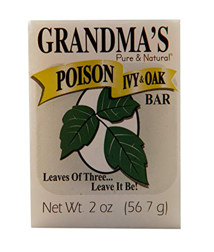 Grandma's Poison Ivy Soap Bar - 2.0 oz Itch Relief Wash with Jewelweed & Colloidal Oatmeal - 67012