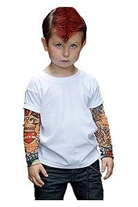 TotTude Little Boys' Rockabilly Tatoo Sleeve T Shirt