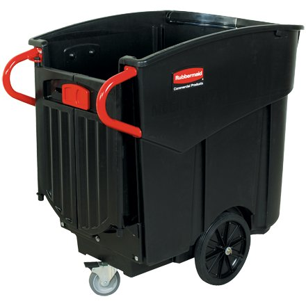 Rubbermaid 120 Gallon Mega Brute Mobile Waste Can Collector Container, Black, Each - ()