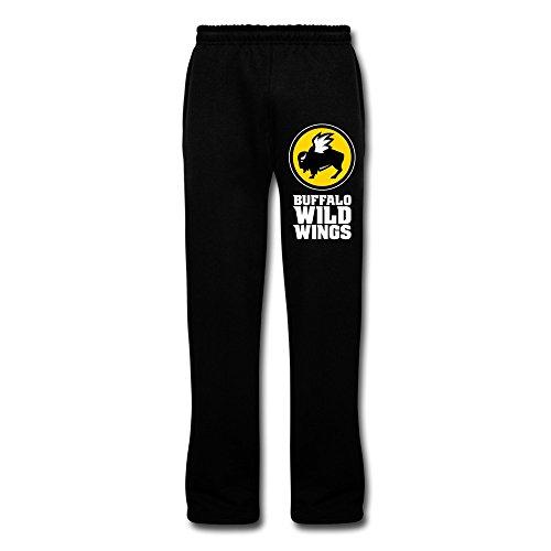 black-vavd-mans-buffalo-wild-wings-100-cotton-sweatpants-size-m