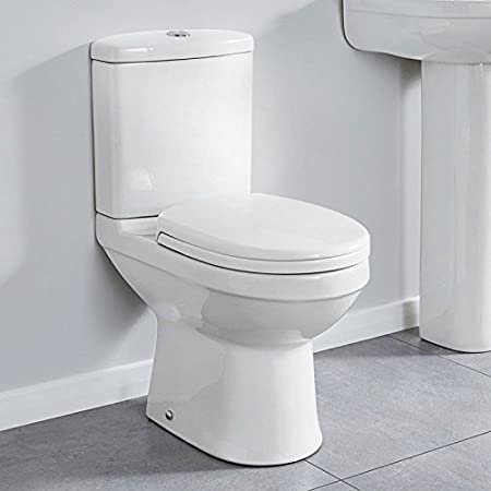 Toilet Close Coupled Compact Space Saving 600 Pan and Cistern with Soft  Close Seat ; White