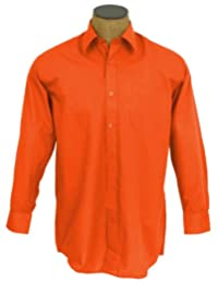 Men's Solid Color Cotton Blend Dress Shirt