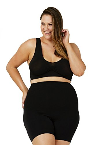 Sonsee Anti Chafing Shapewear Shorts - for Plus Size Women (Black, Stunning 18-20)