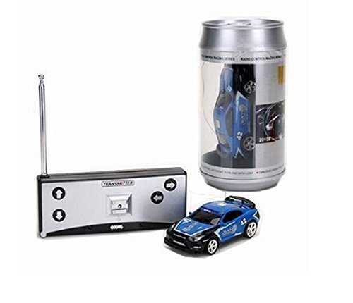 Coke Can Mini RC Radio Remote Control Micro Racing Car 4 Frequencies (Blue) by Youngstore ()
