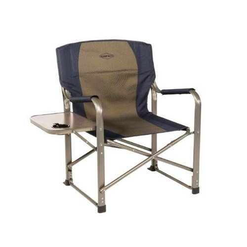 Kamp-Rite Director's Chair with Side Table, Blue by Kamp-Rite
