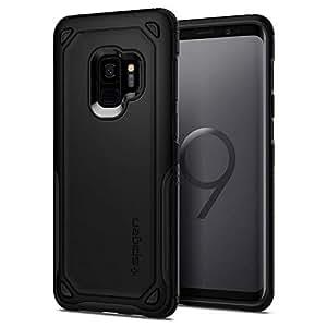Spigen Funda Galaxy S9, Samsung Galaxy S9 Funda, Hybrid Armor - Clear TPU/PC Frame Air Cushion Technology Drop Protection for Samsung Galaxy S9 (2018) - Black