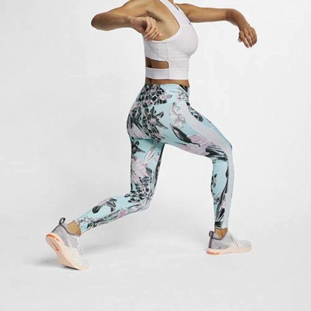 Nike W NK All-IN TGHT HYP Fem Pants, Mujer, Topaz Mist/White ...
