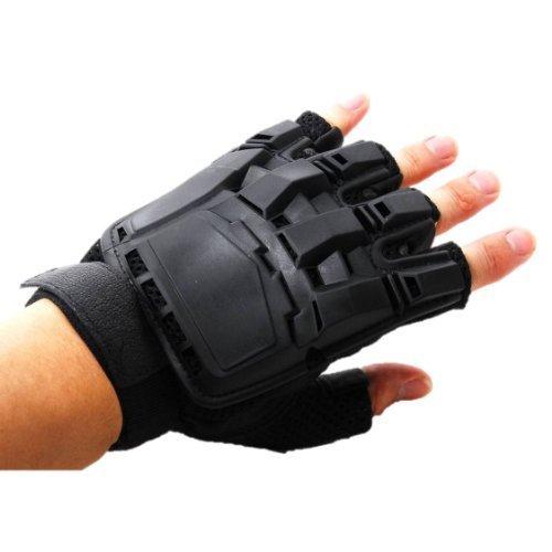 SWAT type protect fingerless glove Sabage BMX Sabage military equipment size (Bmx Type)