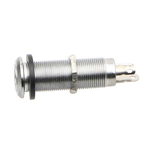 Electric Jack Guitar Jack Chrome Threaded Cylinder Output Input Jack Plug Sockets 6.35mm for Electric Guitar