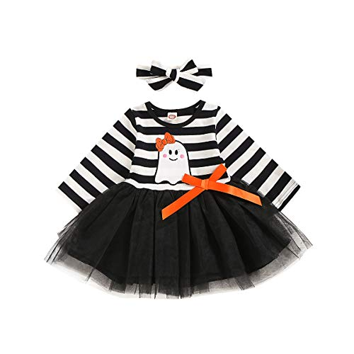 Ghost Tutu - YOUNGER STAR Kids Baby Girl Halloween