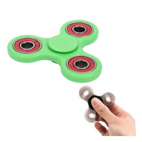 Takit TUMI HS3 - Hand Spinner - Le Meilleur Gadget Pour Réduire Le Stress - Parfait Contre L'anxiété Et Le Stress - Pour Les Adultes Et Les Enfants - Vert