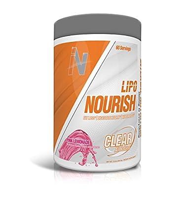 Interval Nutrition Lipo Nourish Clear Pink Lemonade - All Natural Stimulant Free Fat Burner Formula - 60 Servings